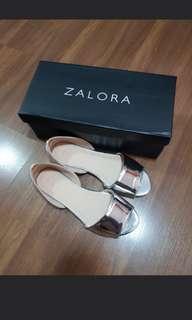 Zalora silver metallic sandals