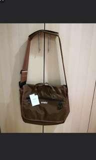 [InStock] Japan Anello Urban Street High Density Nylon Messenger Sling Bag~ Original 100% Authentic ☆Brown ☆AT-B1682