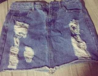 Sexy denim skirt all on sales!