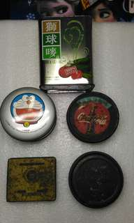 舊鐵罐五個