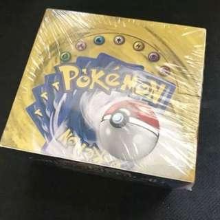 Pokemon vintage card box