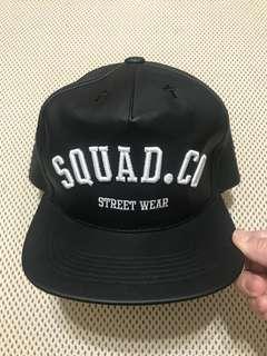 🚚 SQUAD 棒球帽 電繡 皮質 情侶 禮物 正品