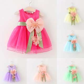 [PRE-ORDER] Toddler Infant Kids Baby Girls Summer Dress Princess Party Weddeing Dress