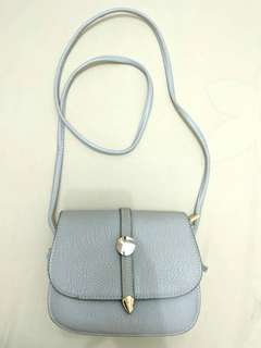 Miniso faux leather baby blue small bag