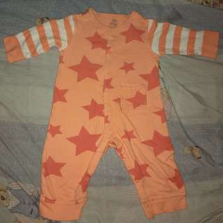 Orange Overall/Bodysuit