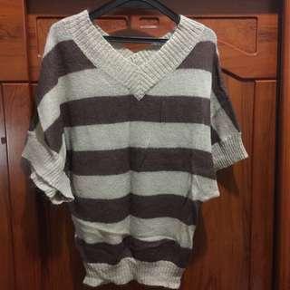 🎃二手🎃OLIVE des OLIVE咖啡色條紋毛衣❗️