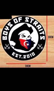 Boys Of Straits car decals.