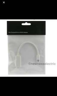 🚚 (In stocks)Mini Display Port/Thunderbolt TO HDMI Adapter cable