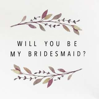 Bridesmaids/ Groomsmen Proposal Cards
