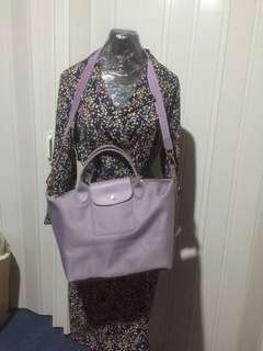 Fress sf wihtin MM Longchamp lilac med size