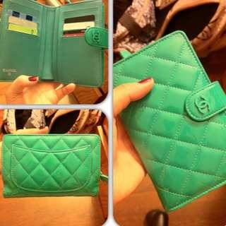 Chanel patent wallet - 漆皮銀包-綠色