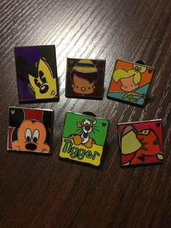 迪士尼徽章 Disney Pin Mickey 米奇 / Tigger 跳跳虎 / Tinker Bell 小仙子 / Pinocchio 小木偶