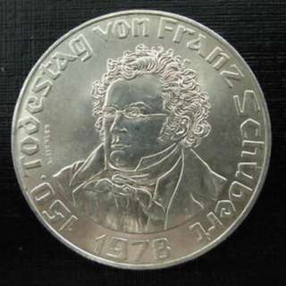 150th Anniversary of the Death of Franz Schubert 50 Schilling Silver Coin