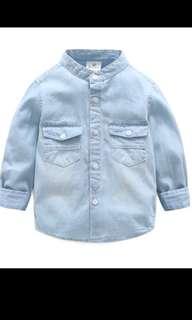 Toddler baby boy denim shirt