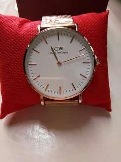 DW rose gold watch
