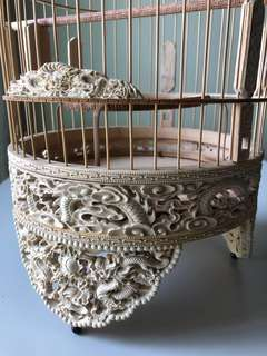 "🇻🇳 8.5"" 3D puteh cage with perforation dragon carvings"