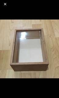 CLEARANCE SALES {Design & Craft} BN Wooden Box - Come With Glass Face (Can Be Wall Hanging)