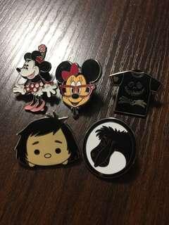 迪士尼徽章 Disney Pin 米妮 Minnie / Jack / 泰山 / 伊唷