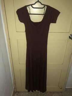Long maroon dress
