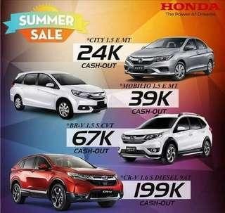 Honda cars summer deal