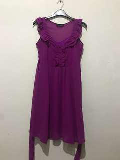 Dorothy Perkins Purple Sheer Dress