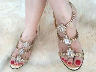 Authentic Bonia Size36 Strapped High Heels