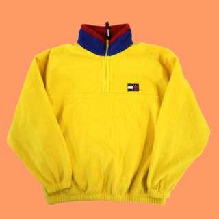 Vintage Tommy Hilfiger Fleece pullover 古著 / Polo / 90s /東岸嘻哈