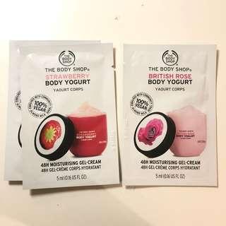 THE BODY SHOP 身體補濕乳酪 Body Yogurts samples
