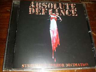 Music CD (Metal): Absolute Defiance–Systematic Terror Decimation - Indonesian Death Metal Band