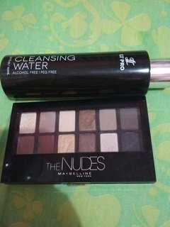 Eyeshadow Maybelline free cleansing water