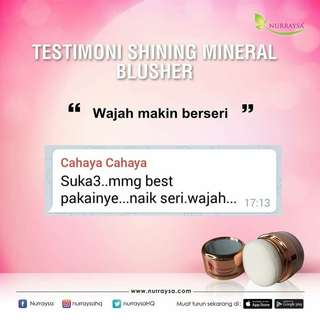 Shining mineral blusher