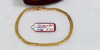 Japan Gold Bracelet 7 1/4