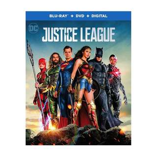 🆕 Justice League Blu Ray + DVD