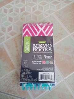 Casemate Set of 3 Memo Books