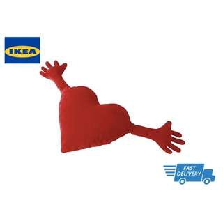 IKEA FAMNIG HJÄRTA Cushion, red FAST DELIVERY