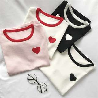 Knitted Heart Tee