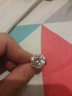 Korean silver ring diamond swarovski