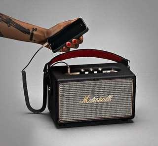 【紅豆美國代購 】Marshall Kilburn 攜帶型藍芽喇叭(經典黑)