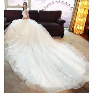 pre order white off shoulder fishtail wedding bridal dress gown  RB0629
