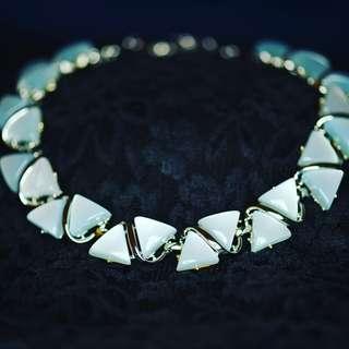 淺藍琉璃古董頸鏈Light Blue Luctie Antique Necklace