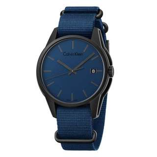 TONE BLUE CANVAS STRAP MEN'S WATCH K7K514VN