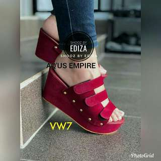 Women Wedges Hot Selling Colour Code No. VW7 Maroon Colour
