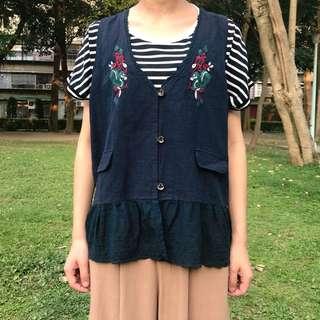 。error dot。日本精緻刺繡小松鼠背心