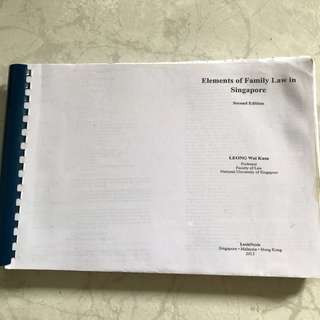 Family Law Textbook (Photocopied)