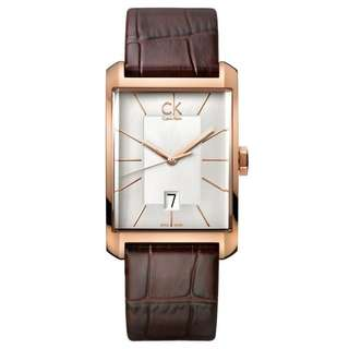 WINDOW ROSE GOLD TONE LEATHER MEN'S WATCH K2M21620
