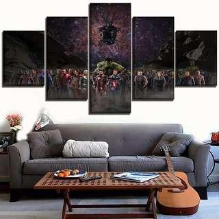 Marvels Infinity War Canvas Print