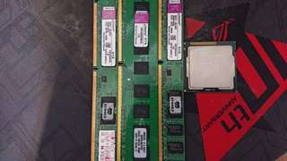 i5 2400 +金士頓ddr3 1333 4G*3+ intel 9301ct 合售