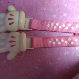 Minnie mouse Clip/Holder ng pacifier