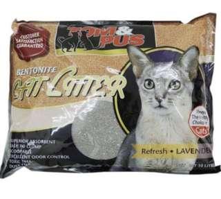Tom and Pus Bentonite Cat Litter 10L Promotion 10 bags @ $65