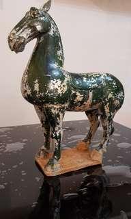 Ceramic green crackle horse